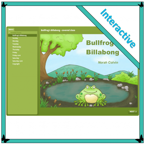 Bullfrog's Billabong – Covered cloze