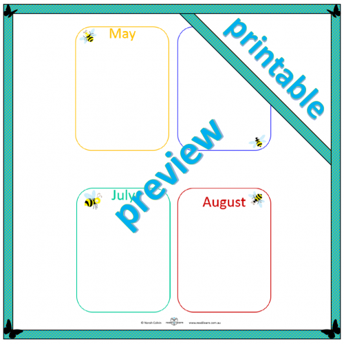 Busy Bee – Months of the year