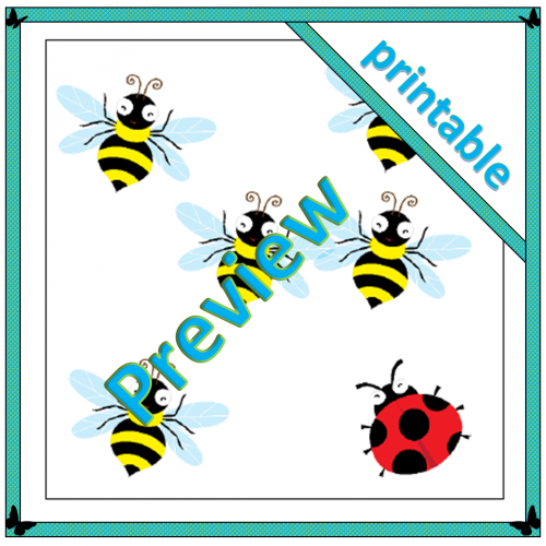 Busy Bees and Insect Subitisation Cards