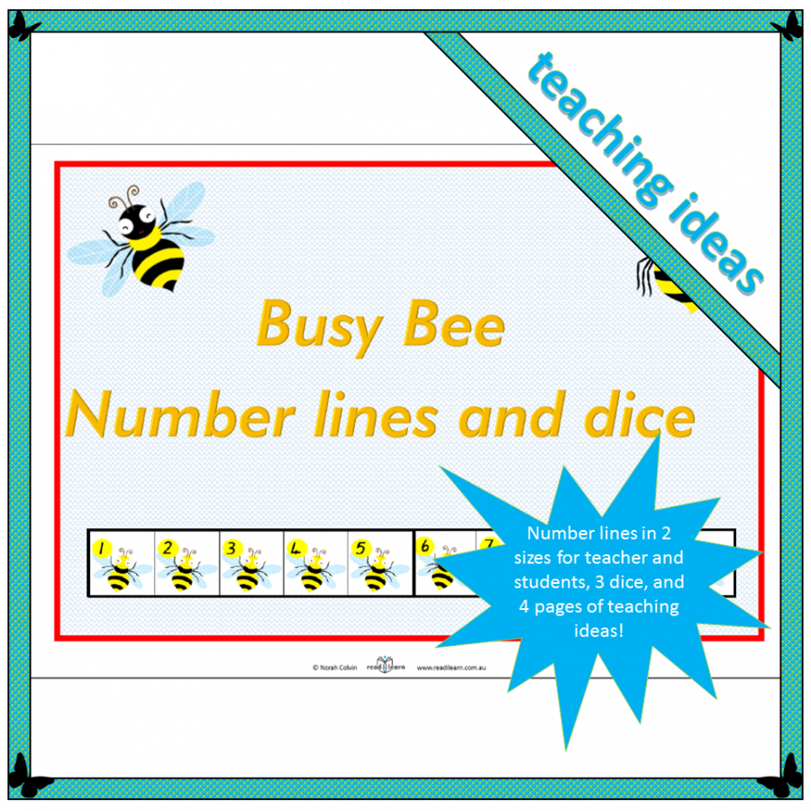ideas for teaching using number lines and diced