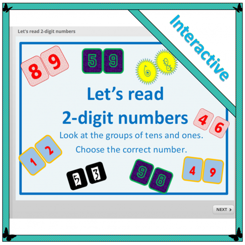 Let's read 2-digit numbers