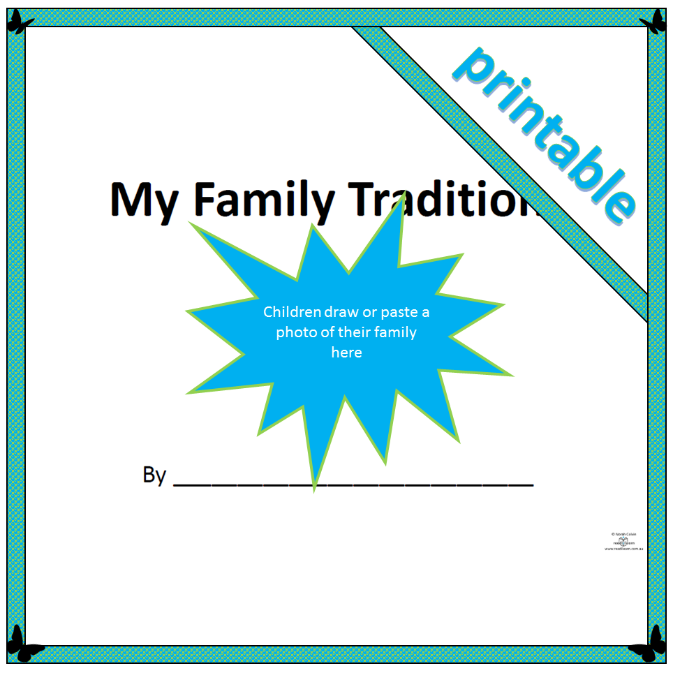 My Family Traditions Readilearn - 48+ My Family Worksheet For Kindergarten Pdf PNG