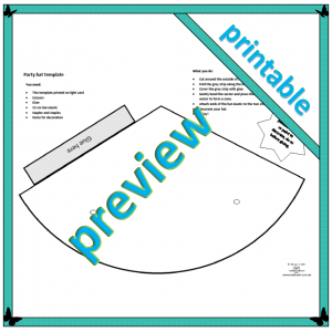 a printable template for a party hat that children can decorate and wear