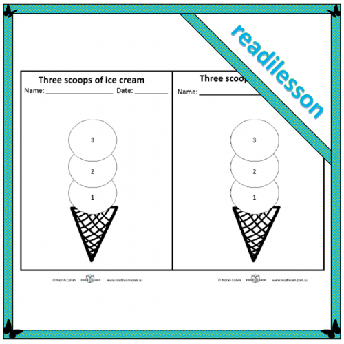 Three scoops of ice cream – Possible and impossible