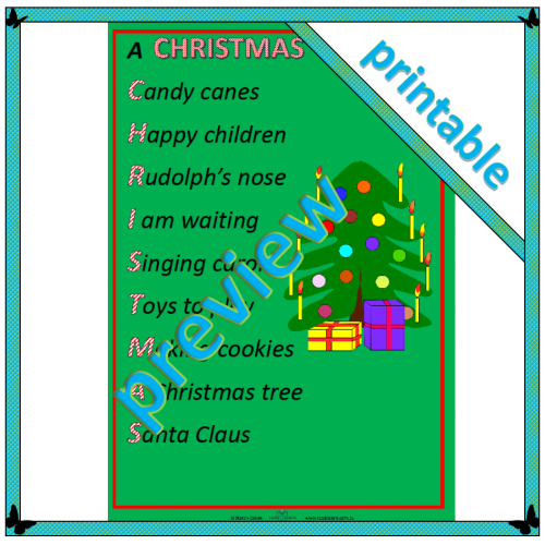 Poem: A Christmas acrostic