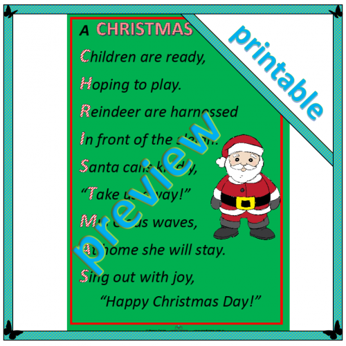 Poem: A Christmas acrostic 2