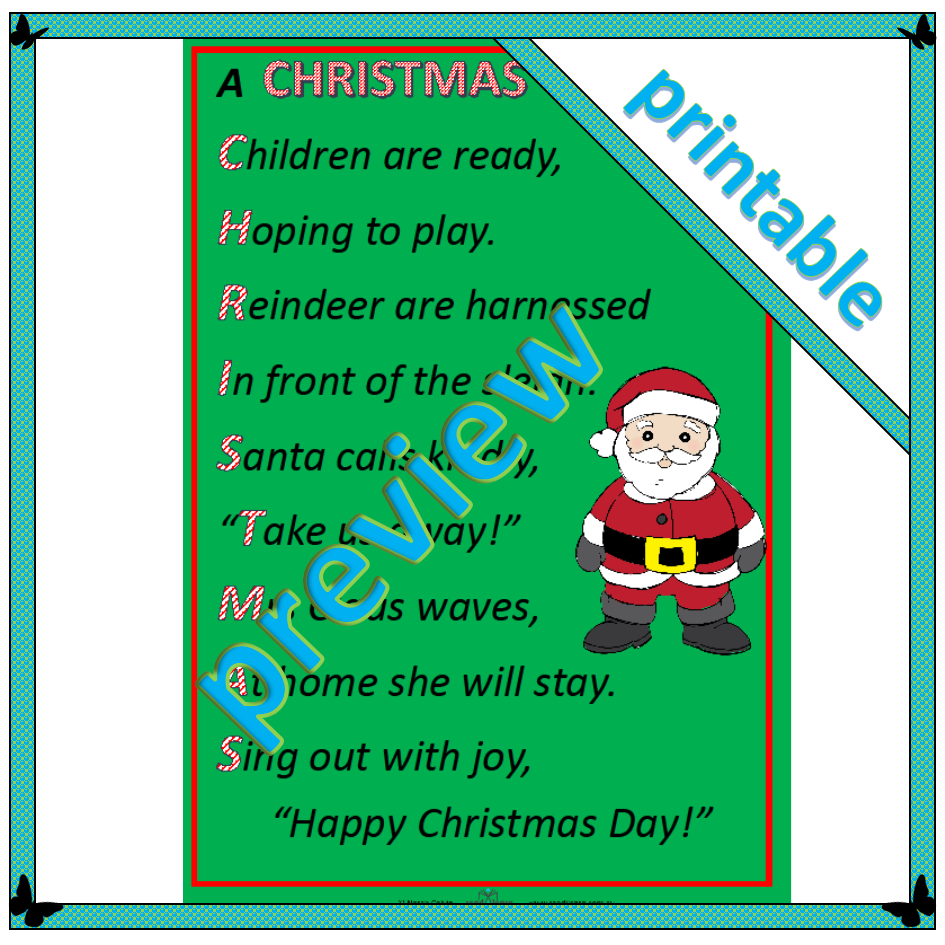 poem a christmas acrostic 2