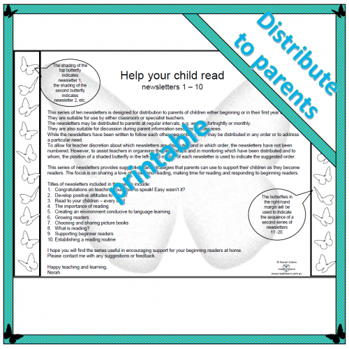 Help your child read newsletters 1 – 10