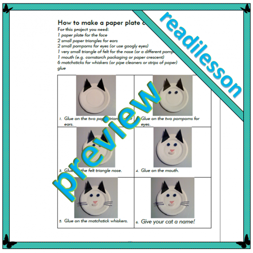 How to make a paper plate cat face – Level 2