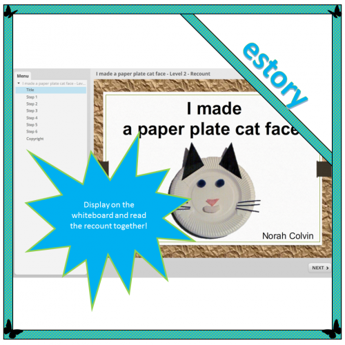 I made a paper plate cat face – Level 2 – Recount