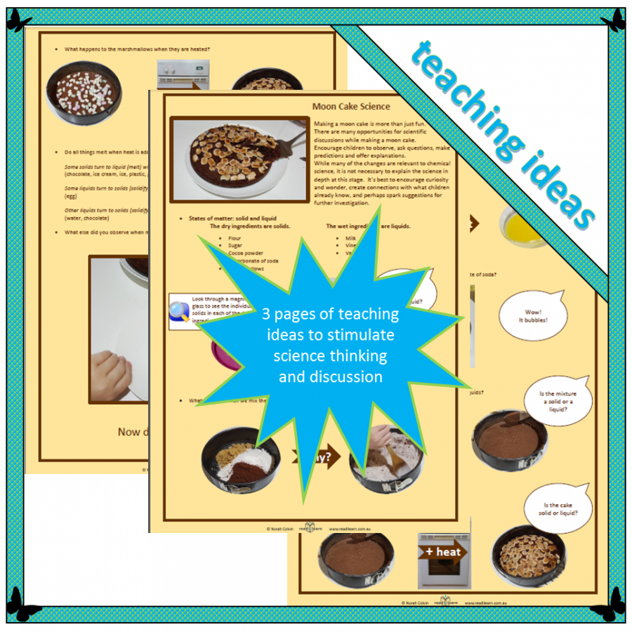 science teaching ideas for making a moon cake