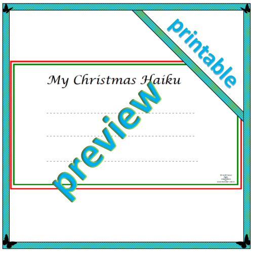 My Christmas haiku template