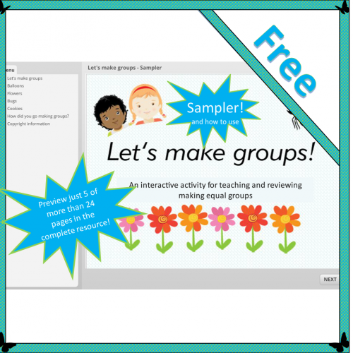 Let's make groups – Sampler