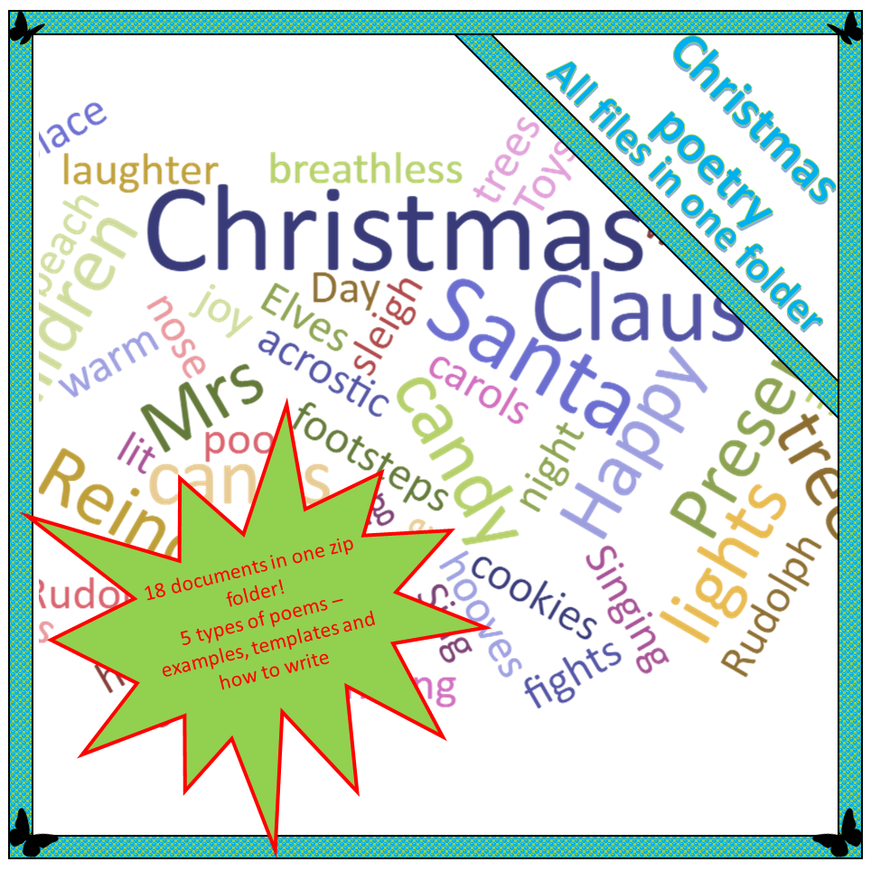 Christmas Poems.Christmas Poetry Writing With Children