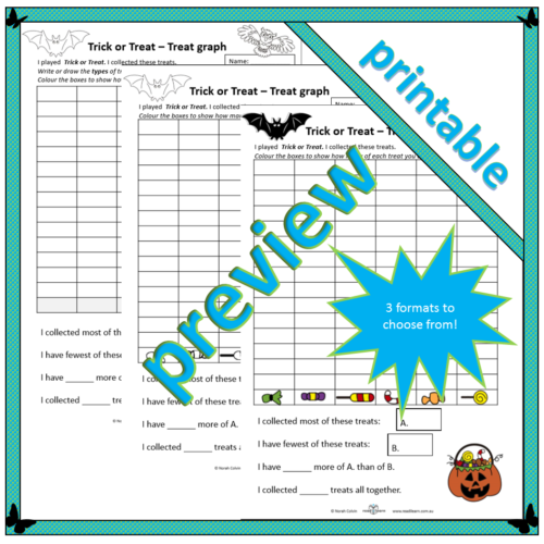 Trick or Treat – Treat graph