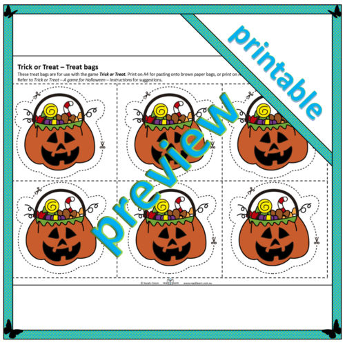 Trick or Treat – Treat bags