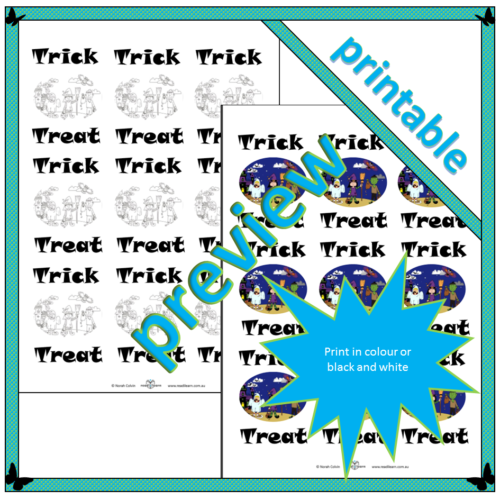 Trick or Treat card backs