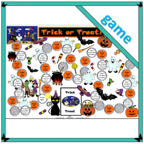 Trick or Treat game board