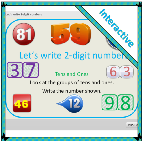 Let's write 2-digit numbers