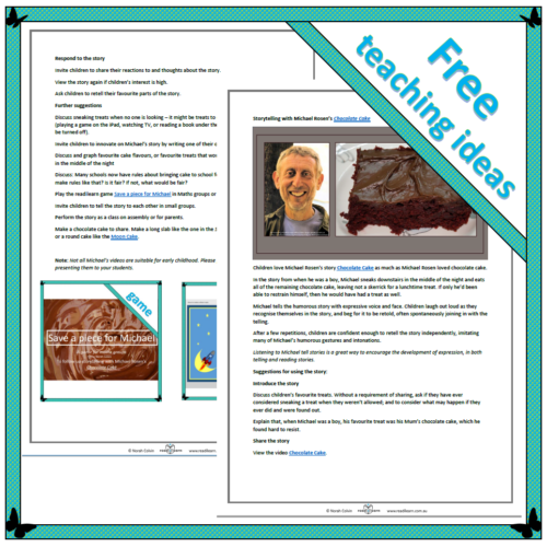 Storytelling with Michael Rosen's Chocolate Cake