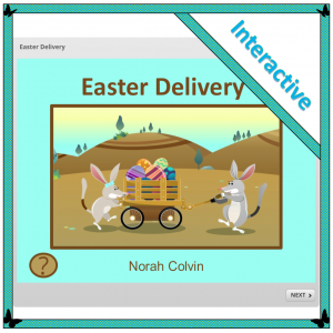 and interactive story that encourages thinking about numbers in different ways: Easter Delivery