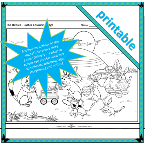 The Bilbies – Easter Colouring Page