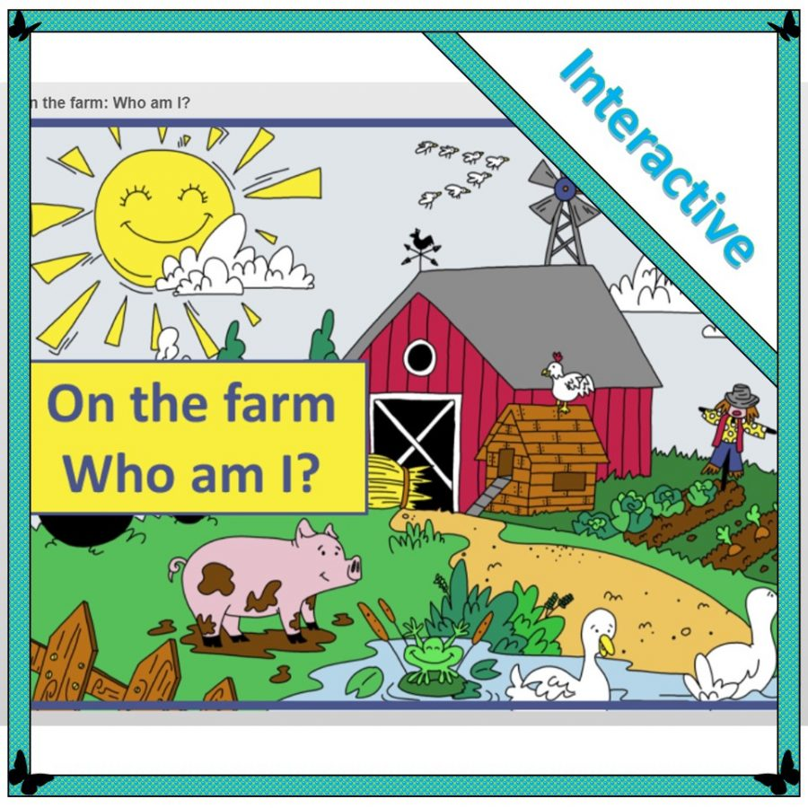 interactive who am I on the farm puzzle