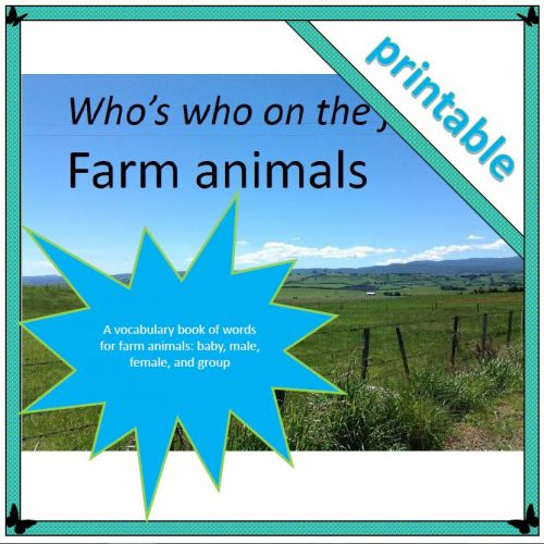 Who's who on the farm - farm animals 1