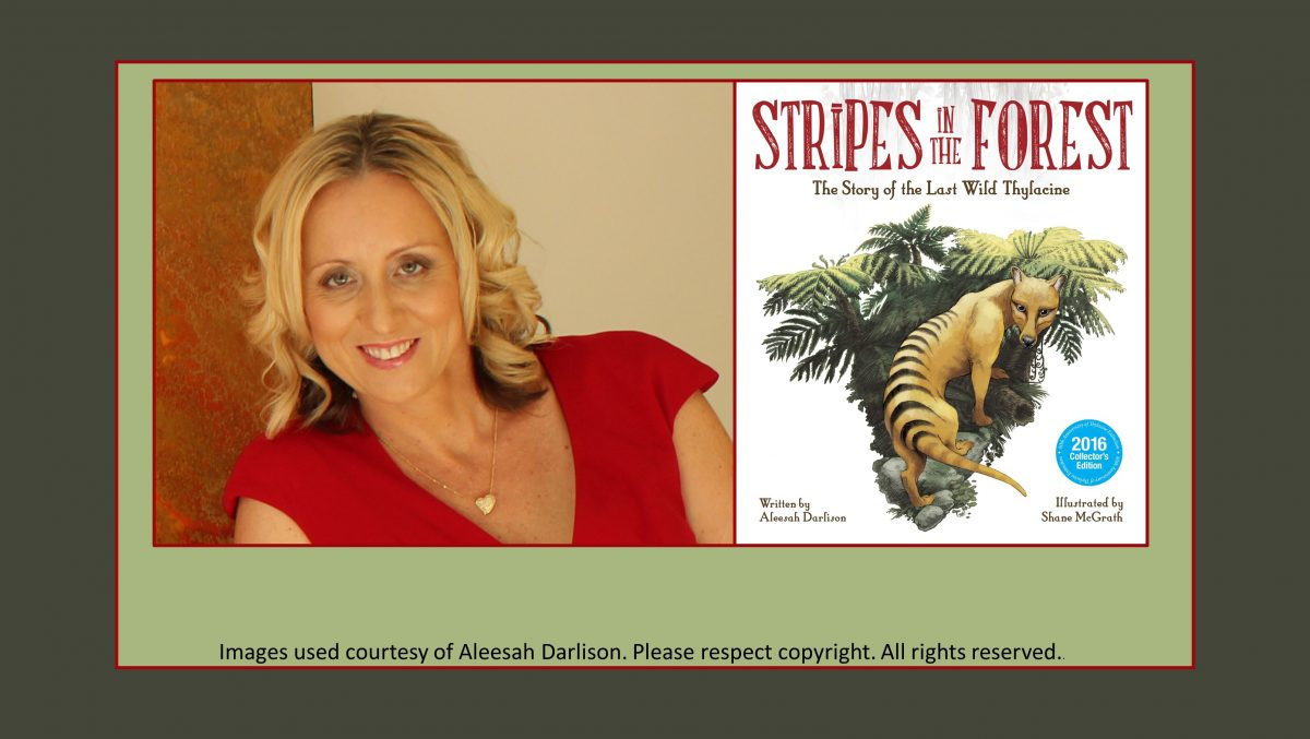 Aleesah Darlison author of Stripes in the Forest