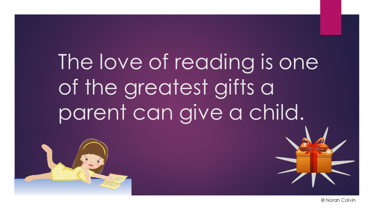 parents reading to children, reading is a gift, the importance of reading