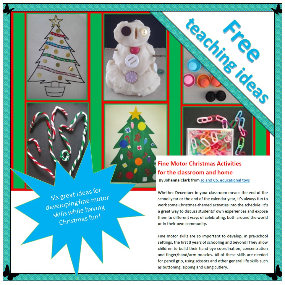 fine motor christmas activities readilearn. Black Bedroom Furniture Sets. Home Design Ideas