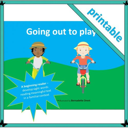 Going out to play – A4 booklet