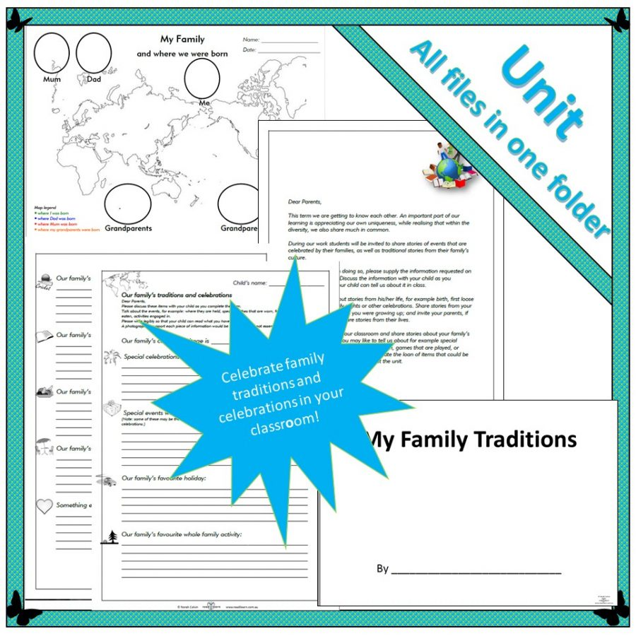 Family traditions and celebrations