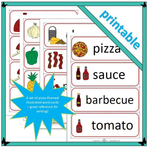 Pizza word cards