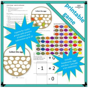collect the eggs a fun game developing understanding of numbers to twenty