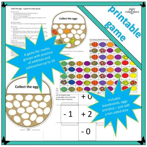 Collect the eggs – a game for maths groups