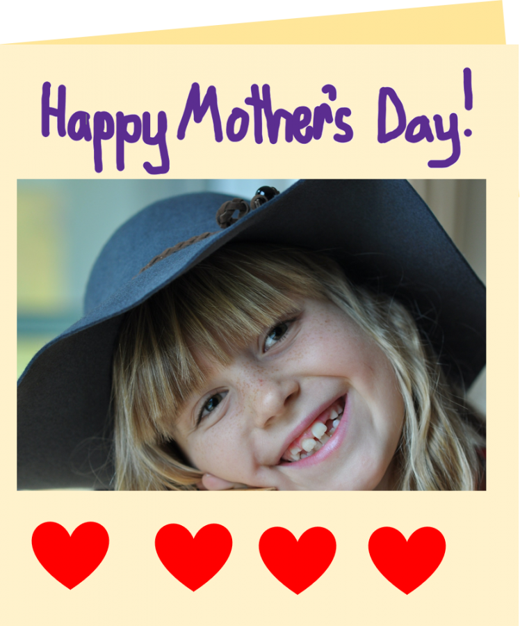 a mother's day card with photograph to make