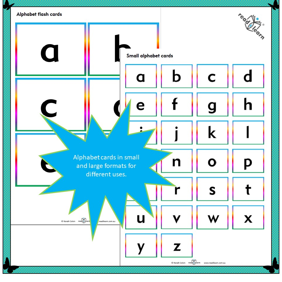 photo about Alphabet Cards Printable known as Alphabet flash playing cards