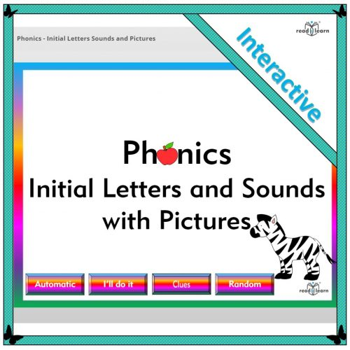 interactive whiteboard resource for teaching initial letters and sounds