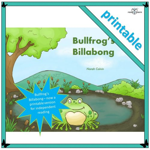 Bullfrog's Billabong – a printable booklet