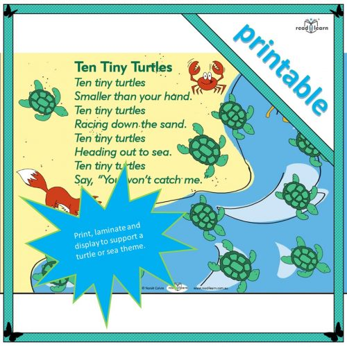 Ten Tiny Turtles – a poem