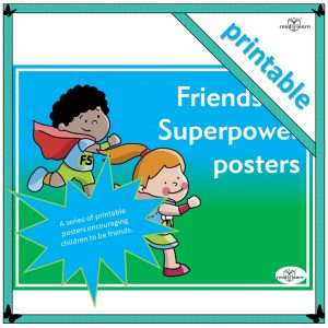 friendship superpower posters is a series of posters to support the development of friendship skills in an early childhood classroom