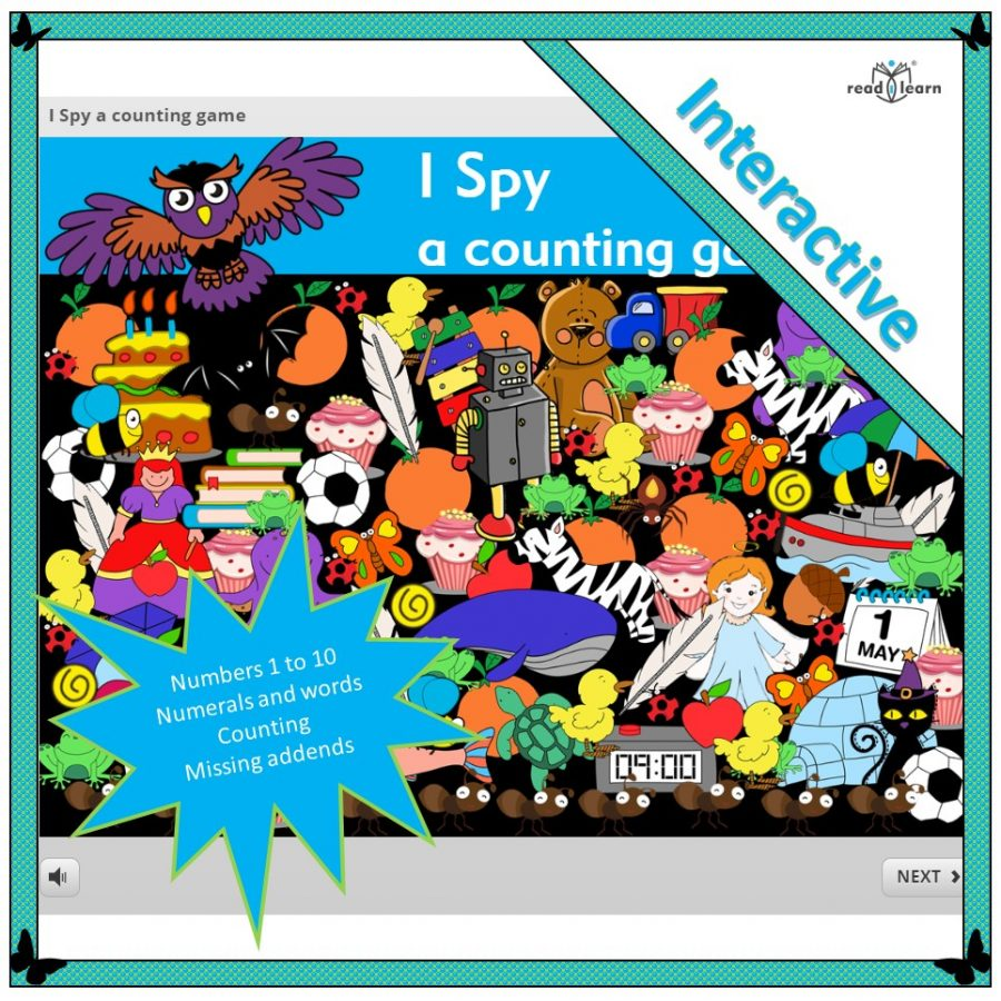 I spy an interactive counting game developing understanding of numbers one to ten