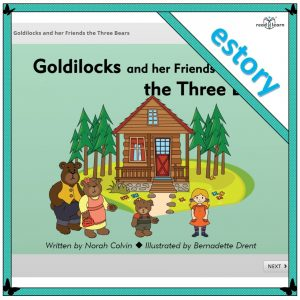 Goldilocks and her friends the three bears estory for the interactive whiteboard