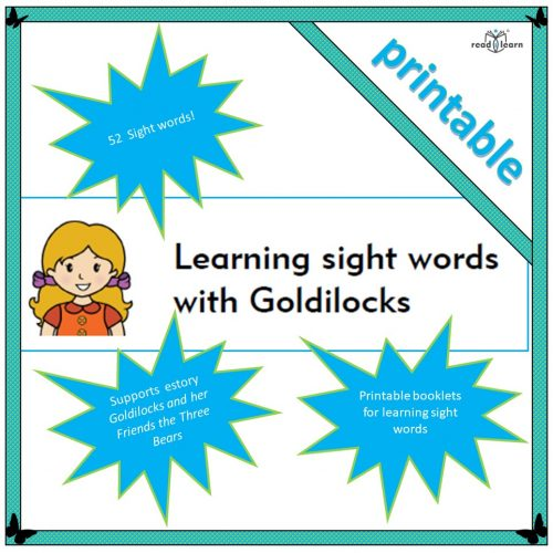 Goldilocks sight words