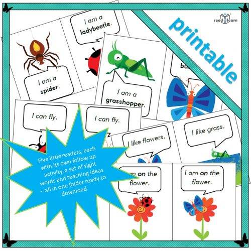 Five little readers and follow up activities in one folder