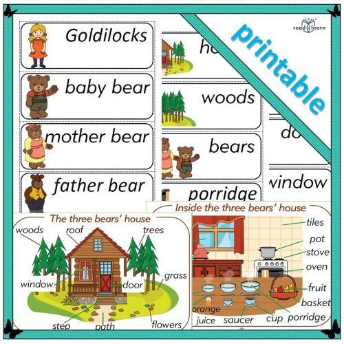 Goldilocks topic word cards