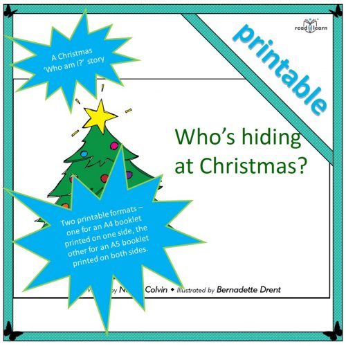 Who's Hiding at Christmas – printable
