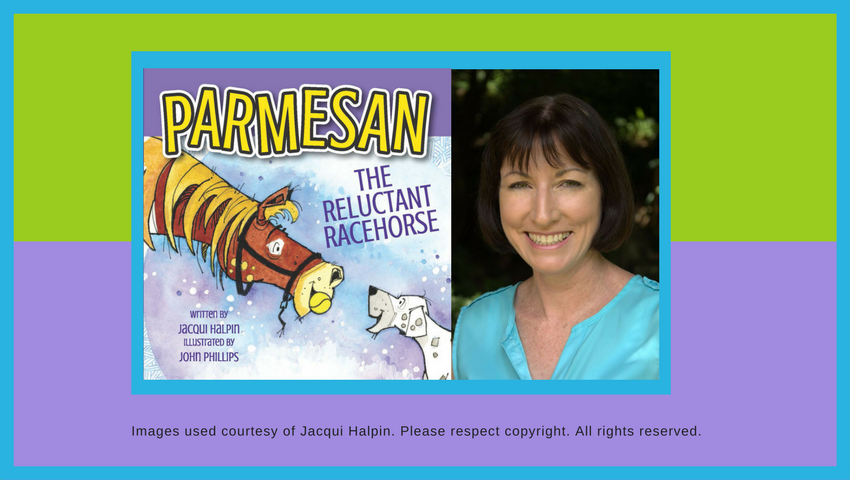 readilearn interview with Jacqui Halpin author of Parmesan the Reluctant Racehorse