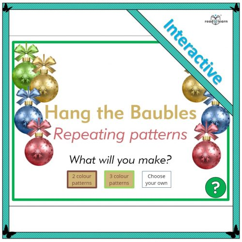 Hang the Baubles – Repeating patterns